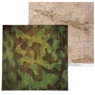 Бумага карта действий, коллекция Military
