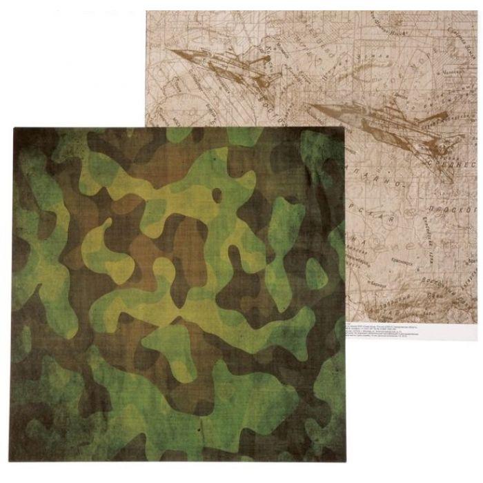 Бумага карта действий, коллекция Military для скрапбукинга