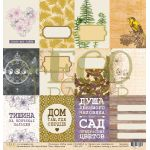 Бумага карточк, коллекция тайны леса