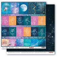 Бумага карточки 1, коллекция космос