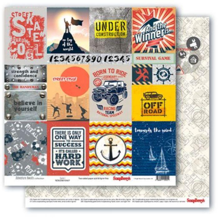 Бумага карточки 1, коллекция мужские хобби для скрапбукинга