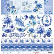 Бумага карточки 2, коллекция ноктюрн в голубых тонах