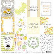 Бумага карточки, коллекция лисы и еноты