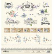 Бумага карточки, коллекция свадебная история