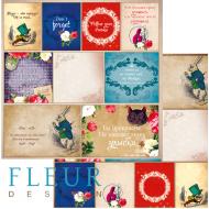 Бумага карточки, коллекция в стране чудес