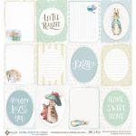 Бумага карточки универсальные, коллекция Кролик Питер и его друзья
