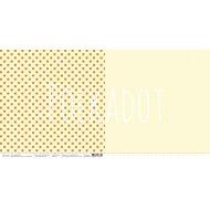 Бумага лимонный, коллекция в горошек