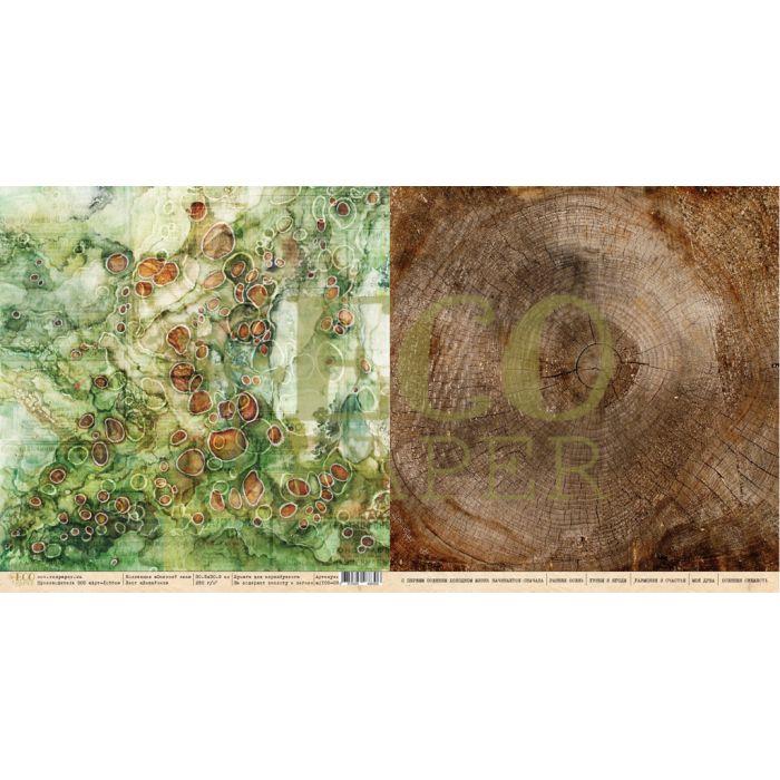 Бумага лишайник, коллекция осенний лес для скрапбукинга