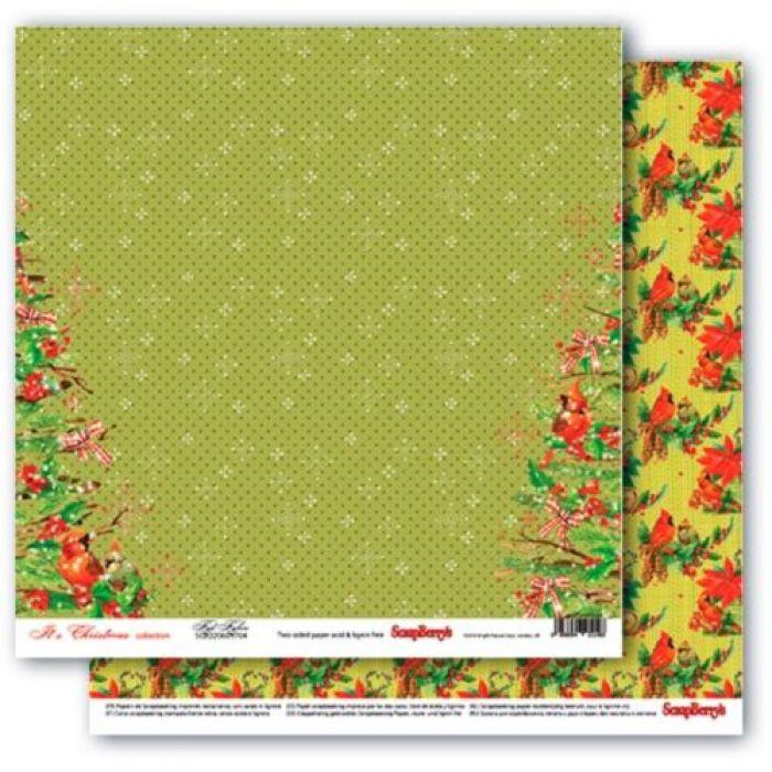 Бумага малиновки, коллекция рождественская омела для скрапбукинга