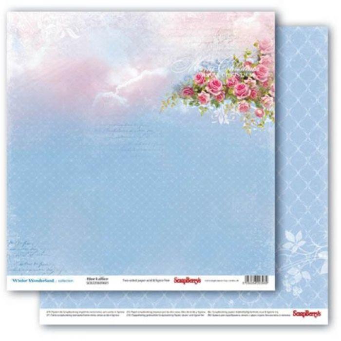 Бумага морозный узор, коллекция зимняя сказка для скрапбукинга