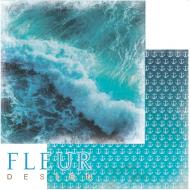 Бумага морская волна, коллекция лагуна