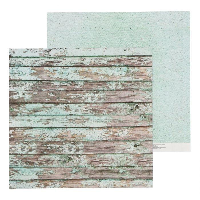 Бумага мятные досочки, коллекция Naturals для скрапбукинга