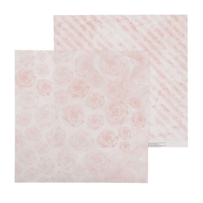 Бумага нежные розы для скрапбукинга