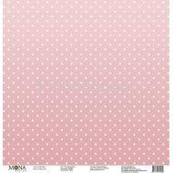 Бумага нежный розовый, коллекция горох