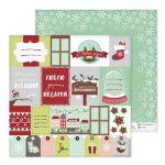 Бумага новогодние подарки, коллекция а в городе зима