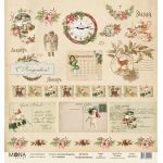 Бумага открытки, коллекция сказочное Рождество