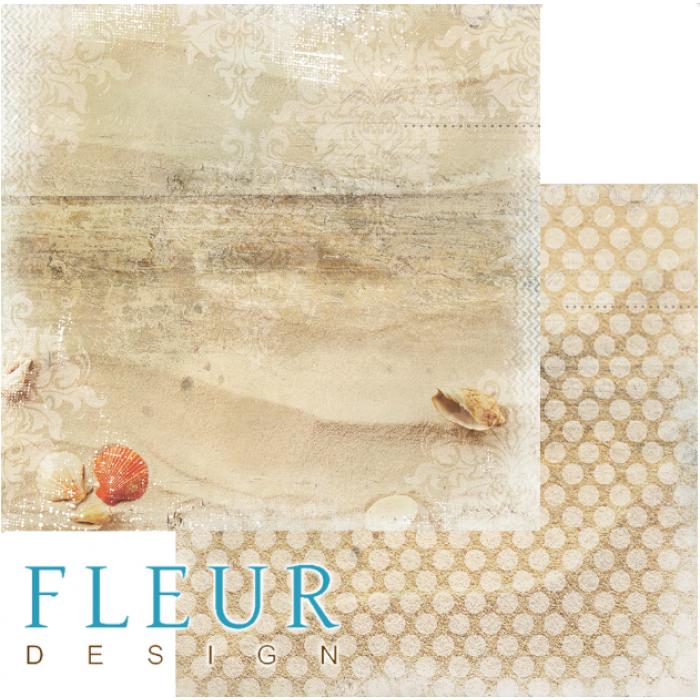 Бумага песочный берег, коллекция лагуна для скрапбукинга