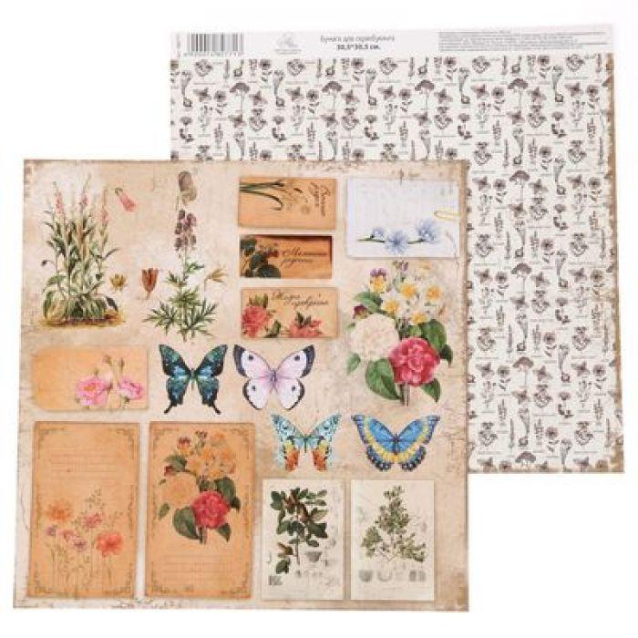 Бумага плашки, коллекция La Botanique для скрапбукинга