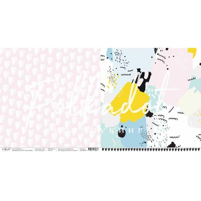 """Бумага рисунки, коллекция """"16+"""" для скрапбукинга"""