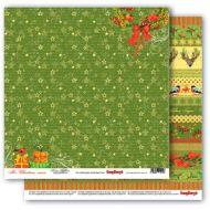 Бумага рождественские ленты, коллекция рождественская омела