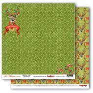 Бумага рождественский олень, коллекция рождественская омела