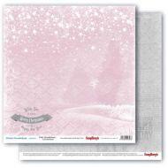 Бумага розовая дымка, коллекция зимняя сказка