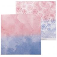 Бумага розовые бутоны, коллекция воздушный поцелуй