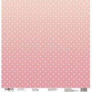 Бумага розовый, коллекция горох