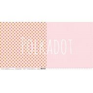 Бумага розовый кварц, коллекция в горошек