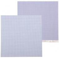 Бумага синяя клеточка