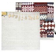 Бумага снегопад радостей, коллекция уютный новый год