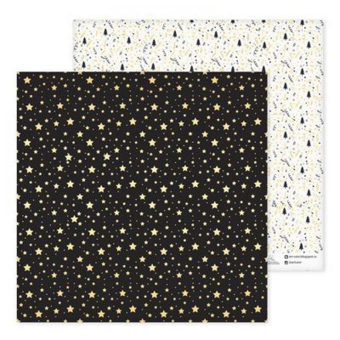 Бумага снежинки, коллекция Magic Year для скрапбукинга