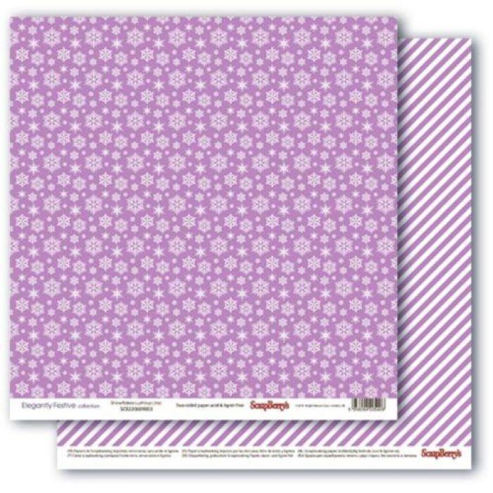 Бумага снежное утро.лиловый иней, коллекция зимние контрасты для скрапбукинга
