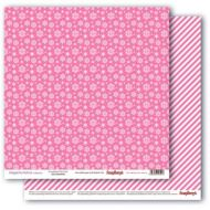 Бумага снежное утро.розовое наваждение, коллекция зимние контрасты