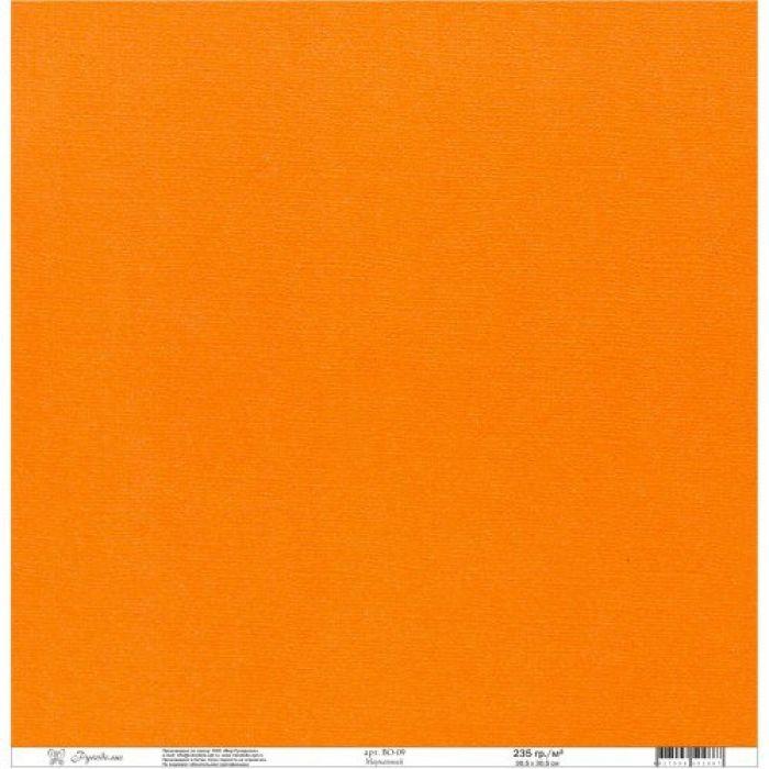 Бумага текстурированная морковная для скрапбукинга