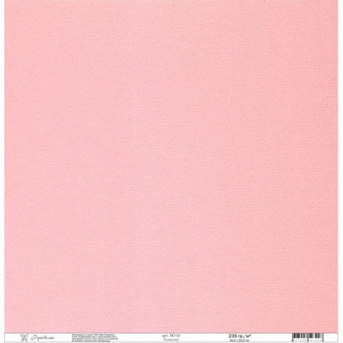 Бумага текстурированная розоватая для скрапбукинга