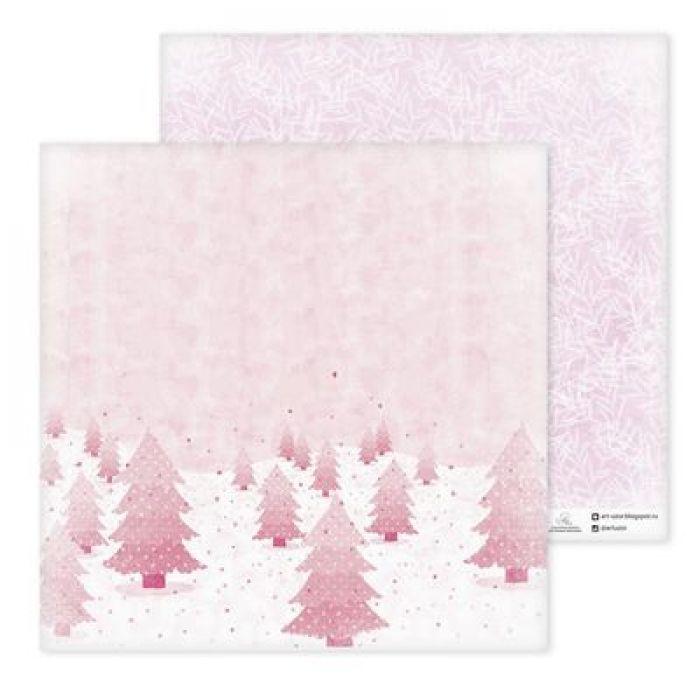 Бумага волшебная зима, коллекция зимние забавы для скрапбукинга