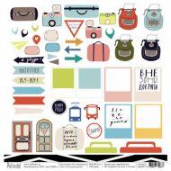 Бумага я путешествую!, коллекция на чемоданах