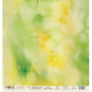 Бумага зеленая акварель, коллекция акварельная осень