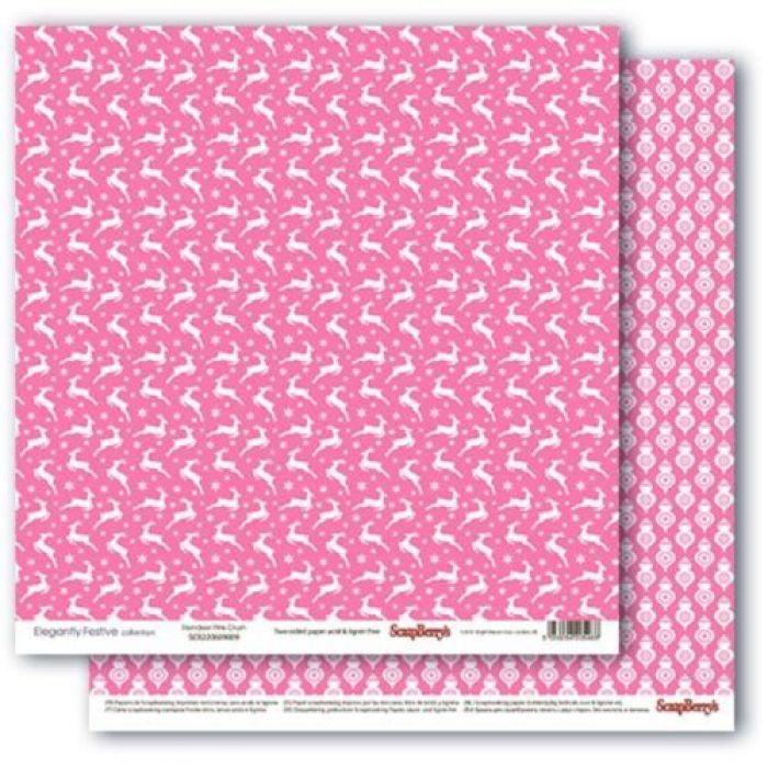 Бумага звездная ночь.розовое наваждение, коллекция зимние контрасты для скрапбукинга