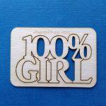 Чипборд 100% girl