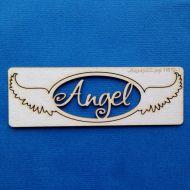 Чипборд Angel в рамке с крыльями