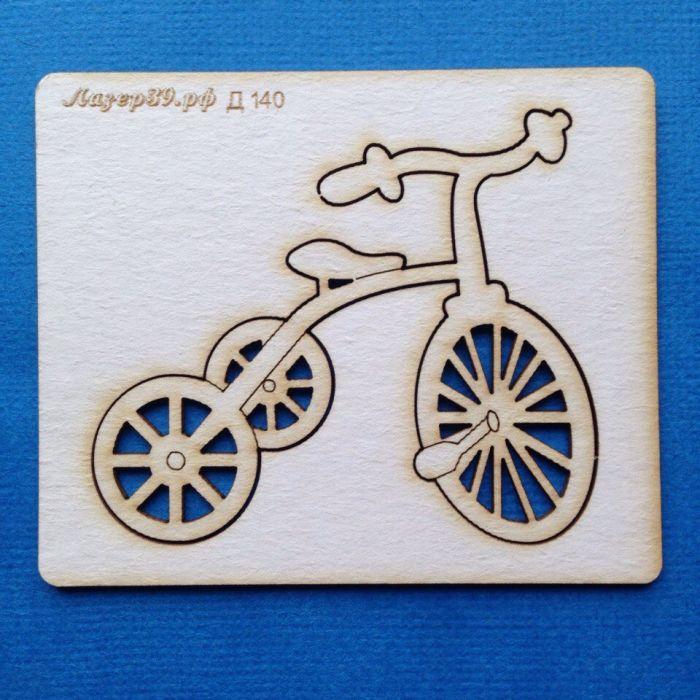 Чипборд детский велосипед для скрапбукинга