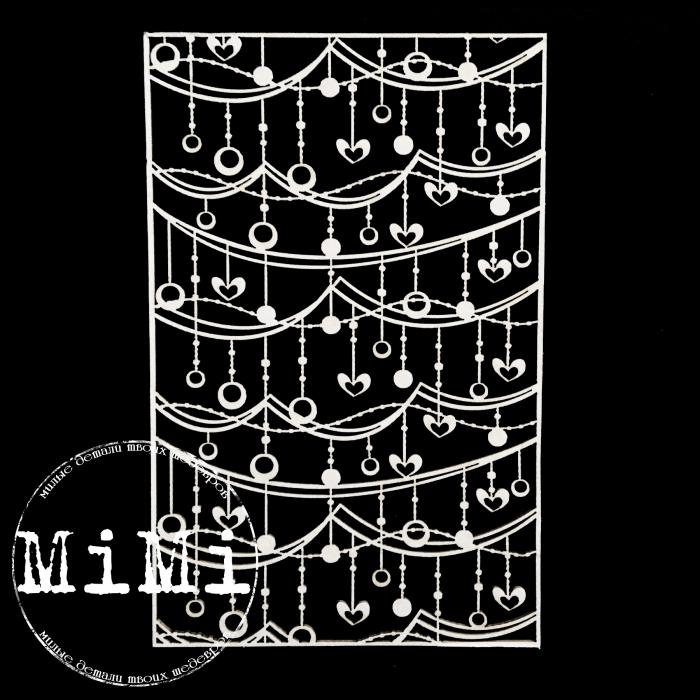Чипборд гирлянда, коллекция фоны для скрапбукинга