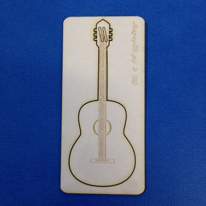 Чипборд гитара для скрапбукинга