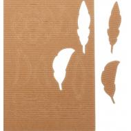 Чипборд из гофрокартона пёрышки
