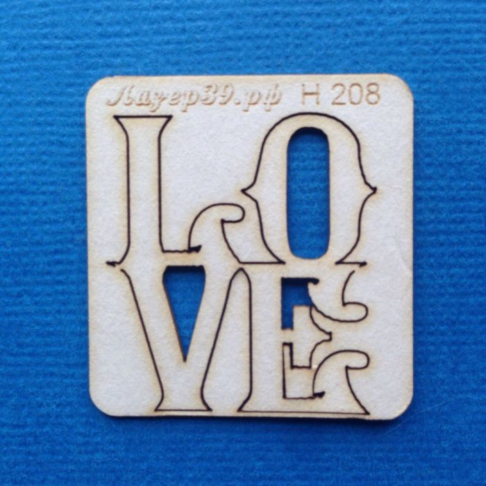 Чипборд LOVE для скрапбукинга