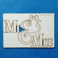 Чипборд Mr&Mrs