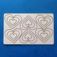 Чипборд набор сердечки