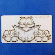 Чипборд сова, читающая сказки